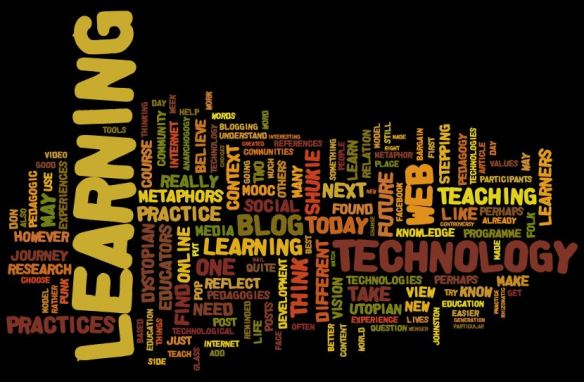 A Wordle created from pasting the URL of this blog!